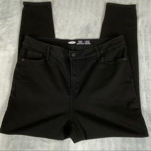 Old Navy Rockstar Super Skinny High Rise Jeans Size 18 Black No Fade